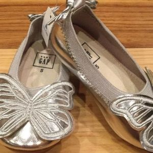 Gap Girls Toddler Silver Butterfly Shoes